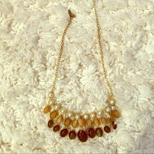 Express 3 tier gold necklace